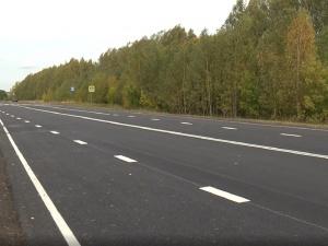 Более километр трассы Работки-Порецкое отремонтировали в Княгининском районе