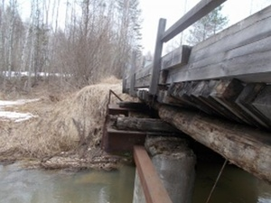 Поврежденный мост восстановили в городском округе Семеновский