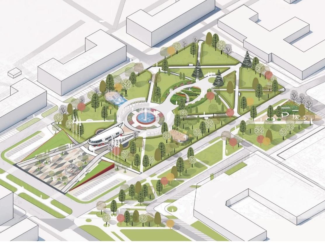 Игровая плошадка-корабль и яблоневый сад: что изменилось в концепции благоустройства площади Буревестника - фото 2
