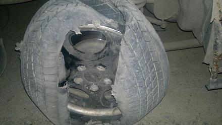 В Арзамасе женщина получила травмы при взрыве колеса автобуса