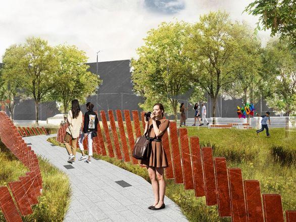 Детская площадка в виде холмов и подсветка деревьев появятся на площади Маршала Жукова - фото 5