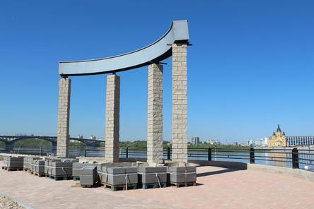 За синим забором: реконструкция Нижне-Волжской набережной близится к завершению (ФОТО)