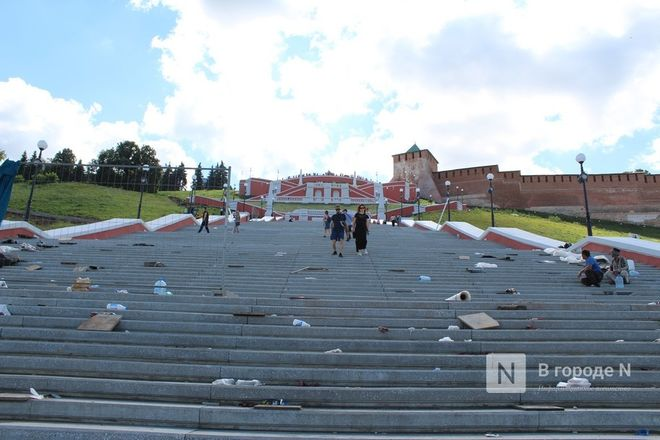 Чкаловскую лестницу открыли, несмотря на продолжающиеся ремонтные работы - фото 51