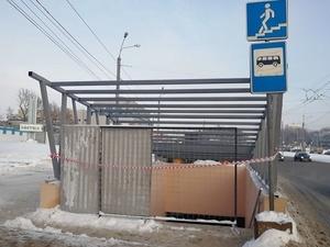 Навесные козырьки устанавливают над переходом у завода «Нител»