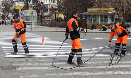 На нижегородские дороги нанесут термопластиковую разметку за 21 млн рублей